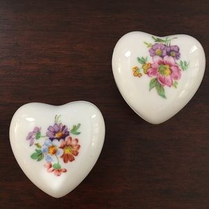 English bone china heart jewelry box